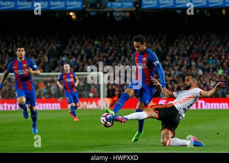 Barcelona, Spain. Credit: D. 19th Mar, 2017. Neymar (Barcelona) Football/Soccer : Spanish Primera Division 'Liga - Stock Photo