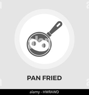 Pan fried eggs icon vector. Flat icon isolated on the white background. Editable EPS file. Vector illustration. - Stock Photo