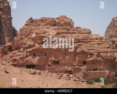 Petra is a historical and archaeological city in southern Jordan. City is famous for its rock-cut architecture. - Stock Photo