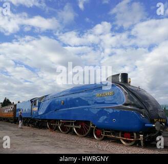 'The Mallard'  A4 Pacific locomotive. - Stock Photo