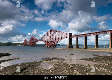Forth Rail Bridge, Edinburgh, Scotland, United Kingdom - Stock Photo