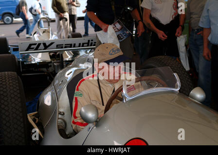 John Surtees, Festival of speed, Goodwood, UK  2004. Grand Prix motorcycle road racer and Formula One driver. February - Stock Photo