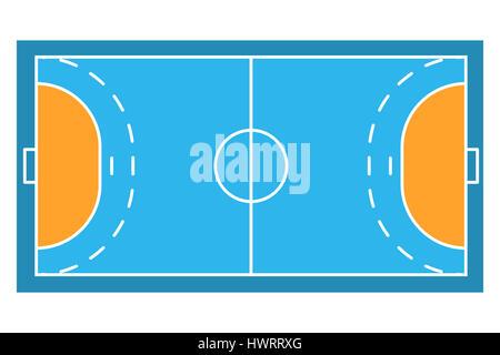 Sample sport field arens of Handball. Flat design. Sporting illustration. - Stock Photo