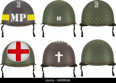 Ww2 Us Army Military Police Helmet Stock Photo 74061833