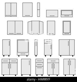 Interior Outline Sketch Furniture Blueprint