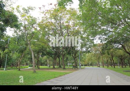 Daan Park in Taipei Taiwan - Stock Photo