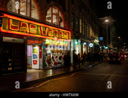Las Vegas amusement arcade, Wardour Street, Soho, London - Stock Photo