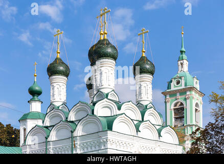 The cupolas of Chernigov Martyrs church in Moscow, Russia - Stock Photo