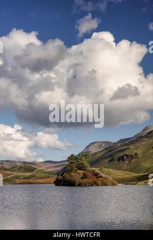 Cregennan Lakes at Cadair Idris near Dolgellau in Snowdonia in North Wales - Stock Photo