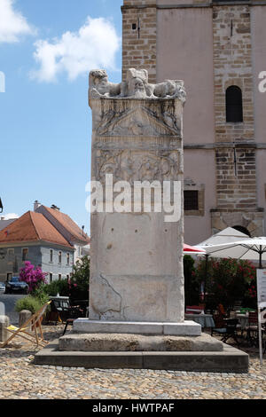 Monument of Orpheus in Slovenski Square in Ptuj, town on the Drava River banks, Lower Styria Region, Slovenia on - Stock Photo