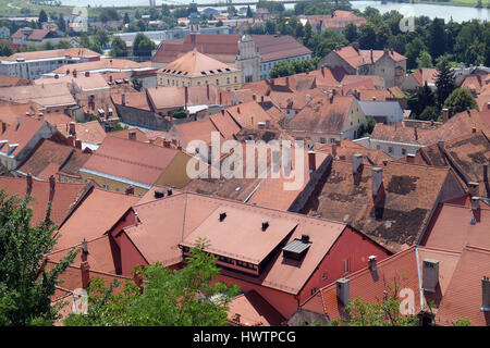 Ptuj, town on the Drava River banks, Lower Styria Region, Slovenia on July 02, 2016. - Stock Photo