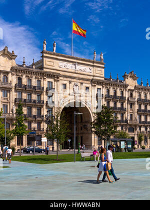 Banco de Santander building in central Santander Cantabria northern Spain - Stock Photo