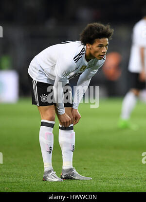 Dortmund, Germany. 22nd Mar, 2017. Germany's Leroy Sane during the international friendly soccer match between Germany - Stock Photo