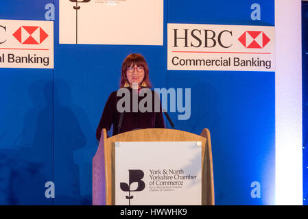 York, UK. 23rd March, 2017. Janet Street-Porter CBE, English celebrity, media personality, journalist and broadcaster, - Stock Photo