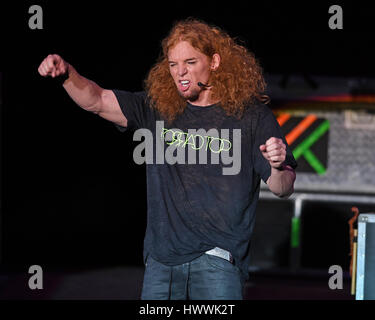 Fort Lauderdale, FL, USA. 23rd Mar, 2017. Carrot Top performs at The Parker Playhouse on March 23, 2017 in Fort Lauderdale Florida. Credit: Mpi04/Media Punch/Alamy Live News Stock Photo