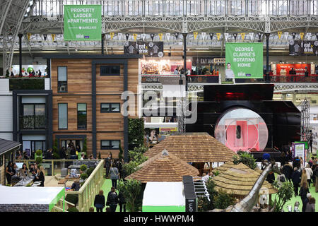 Olympia London, UK. 24th Mar, 2017. Show homes. The Britain's biggest annual consumer home event sponsored by Zoopla, - Stock Photo
