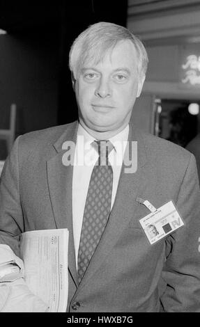 Rt. Hon. Christopher Patten, Chairman of the Conservative party and Member of Parliament for Bath, attends the party - Stock Photo