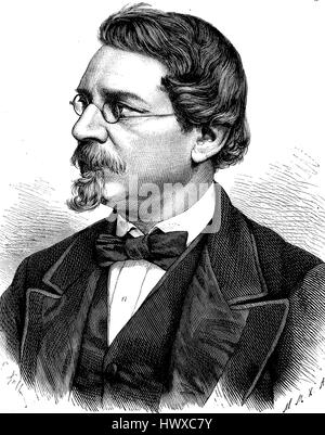August Wilhelm von Hofmann, 8 April 1818 - 5 May 1892, was a German chemist, Germany, reproduction of an image, - Stock Photo