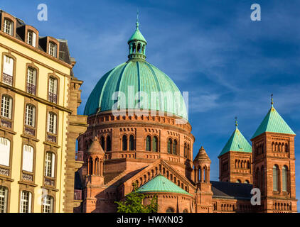 Saint-Pierre-le-Jeune church in Strasbourg - Alsace, France - Stock Photo