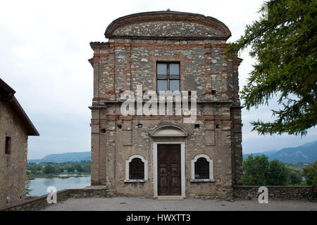 The monastery of san pietro in lamosa on the iseo lake in Italy - Stock Photo
