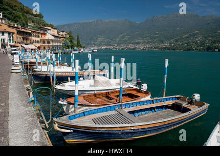 Peschiera Maraglio, village on Montisola, on the Iseo Lake, Italy - Stock Photo