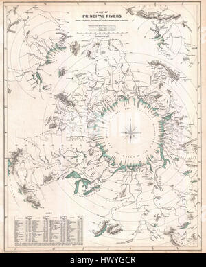 1834 S.D.U.K. Comparative Map or Chart of the World's Great Rivers   Geographicus   ComparativeRivers sduk 1834 - Stock Photo