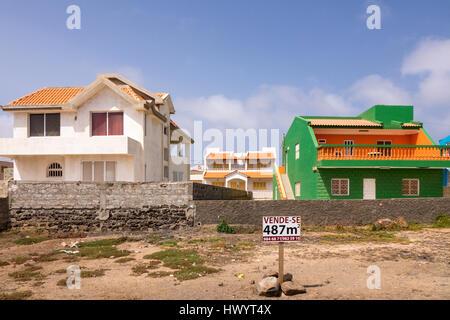 Building plot for sale, Baia das Gatas, Sao Vicente, Cape Verde Islands - Stock Photo