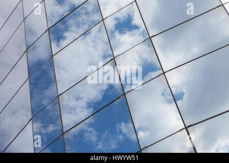 Beautiful skycraper architectural glass building - Stock Photo