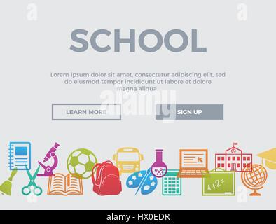 School. Concept header. - Stock Photo