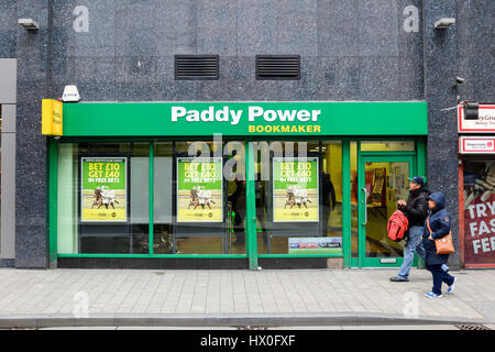 Paddy Power betting shop in Birmingham city centre,UK. - Stock Photo