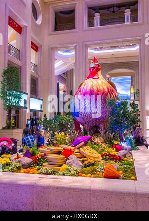 las vegas jan 08 chinese new year decorations at the venetian hotel casino