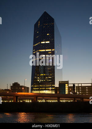 Cira Center on Independence Day - Stock Photo