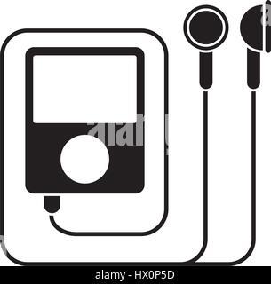 mp3 music gym equipment pictogram - Stock Photo