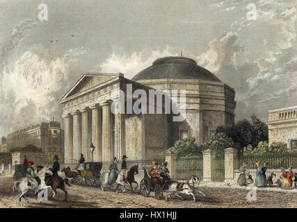 Coliseum, Regents Park engraved by Cox after Roberts publ 1837 edited - Stock Photo