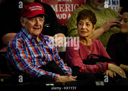 Attendees at President Donald J Trump Rally at Louisville Exposition Center on  March 20, 2017 in Louisville, Kentucky. - Stock Photo