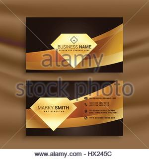 Premium diamond shape golden business card template vector design attractive premium labels set collection with diamond elements premium business card template with golden wave shape stock photo colourmoves