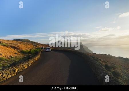 Canary island -  panoramic view from Mirador del Rio, Lanzarote - Stock Photo