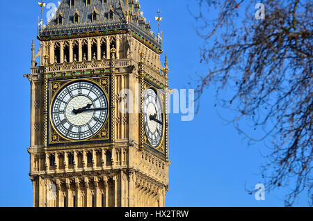 London, England, UK. Big Ben, officially The Elizabeth Tower. Formerly St Stephen's Tower, renamed for the Queen's - Stock Photo