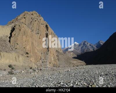 Panda Khola, valley near Jomosom, Annapurna Conservation Area, Nepal. - Stock Photo