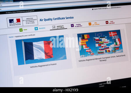 air quality certificate crit 39 air for the french big towns and stock photo 128730542 alamy. Black Bedroom Furniture Sets. Home Design Ideas