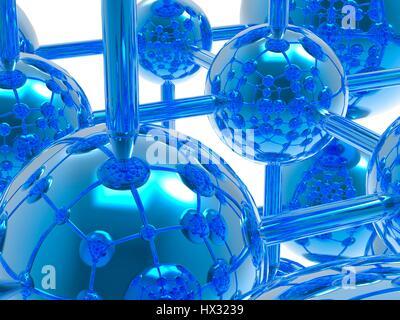 Generic molecule, computer artwork. - Stock Photo
