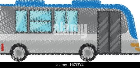 drawing bus transport urban public - Stock Photo