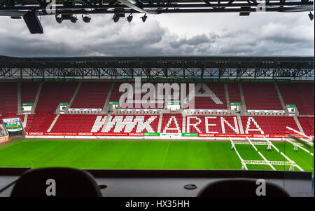 Visiting WWK Arena - the official stadium of FC Augsburg - Stock Photo