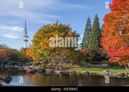 japanese garden in planten un blomen park hamburg germany stock, Gartenarbeit ideen