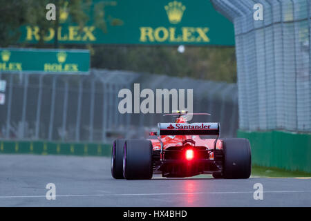 Melbourne, Australia. 25th March, 2017. F1 qualifying during the 2017 Formula 1 Rolex Australian Grand Prix, Australia - Stock Photo