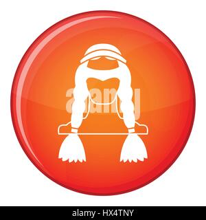American indian icon, flat style - Stock Photo