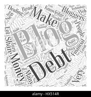 blogging consolidation debt and new information technology Word Cloud Concept - Stock Photo