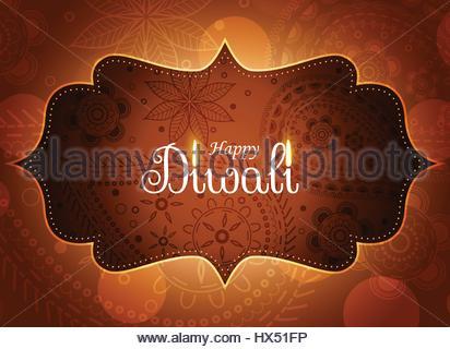 awesome diwali paisley design wallpaper - Stock Photo