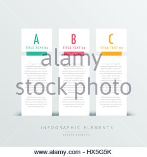 three vertical banners infographic design template - Stock Photo