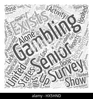 BWG senior gambling Word Cloud Concept - Stock Photo